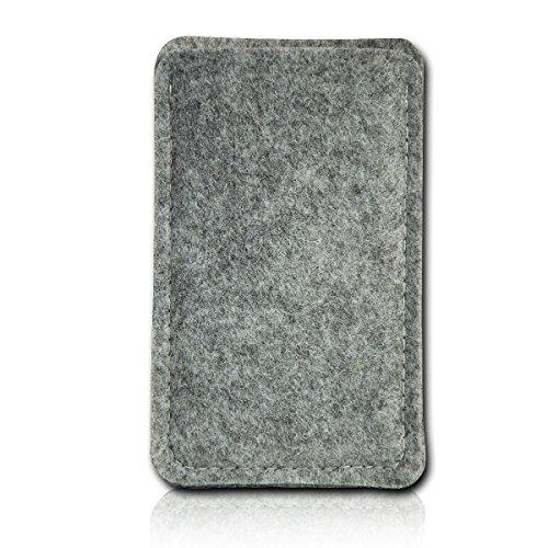 Filz Style Nokia P1 Filz Handy Tasche Hülle Etui passgenau für Nokia P1 - Farbe grau-schwarz