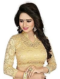 CDPL Express Present Women's Cotton Free Size Full Sleeve Readymade Net Saree Blouse
