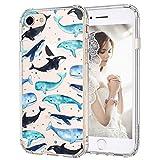 MOSNOVO Cover iPhone 7, Cover iPhone 8, Balena Trasparente con Disegni TPU Bumper con Protettiva Custodia Posteriore per iPhone 7/iPhone 8 (Whale)