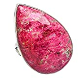 Thulite, Thulite 925 Argento Sterling Anello 5.5