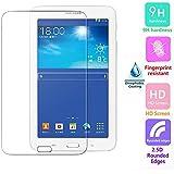 Voguecase® Protector de vidrio templado de vidrio templado para Samsung Galaxy Tab 3 7.0 Lite T110 T111 Protector de pantalla Ultra HD - Extreme Clarity 9H duro 0.3 mm 2.5D clara