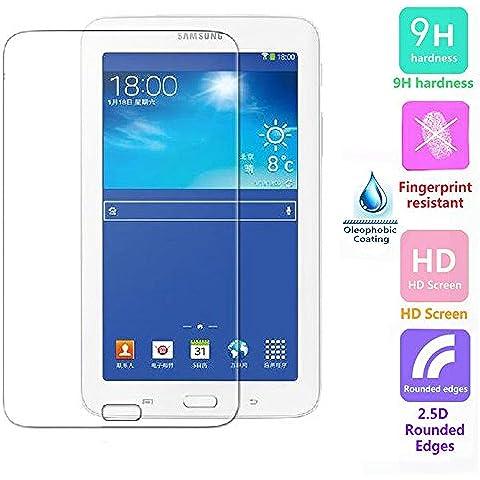 Voguecase® Protector de vidrio templado de vidrio templado para Samsung Galaxy Tab 3 7.0 Lite T110 T111 Protector de pantalla Ultra HD - Extreme Clarity 9H duro 0.3 mm 2.5D