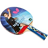 Butterfly Nakama S-4 Table Tennis Racket – ITTF Approved Ping Pong Paddle – Wakaba Rubber Ping Pong Racket – 2 Ping Pong Balls Included