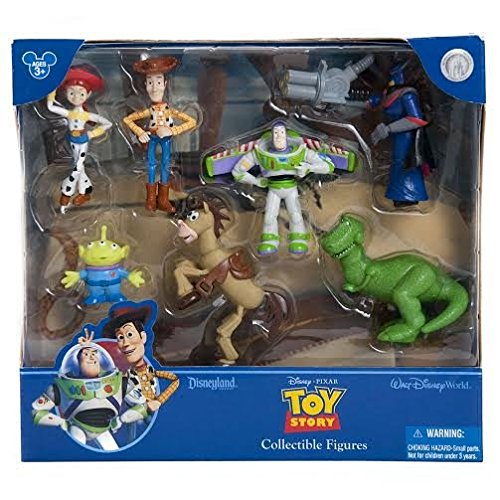 (Disney Exclusive Toy Story 7 Stück Figure Set Spielset; Enthält, Woody, Buzz, Rex, Zurg, Bullseye, Jessie und Alien)
