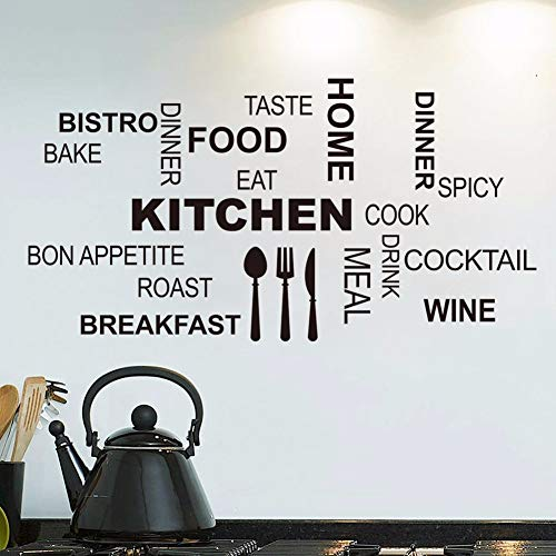 r Küche Wand Zitate Kunst Lebensmittel Wandaufkleber Diy Vinyl Home Decals Kunst Poster Sofa Wand Dekoration ()