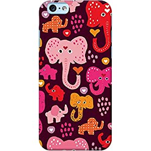 DailyObjects Elephant Parade Brown Case For iPhone 6