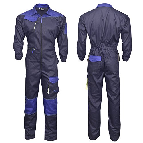 NORMAN Marineblau Herren Arbeitskleidung Latzhose Monteuranzug Overalls Mechaniker Blaumann - Marineblau, XXX-Large