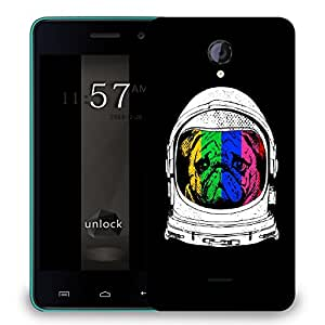 Snoogg Astronaut Dog Designer Protective Back Case Cover For MICROMAX UNITE 2