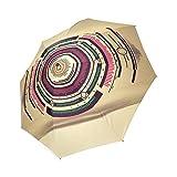 Geometric Circles classico ombrello antivento pieghevole Compact Rain ombrello da viaggio