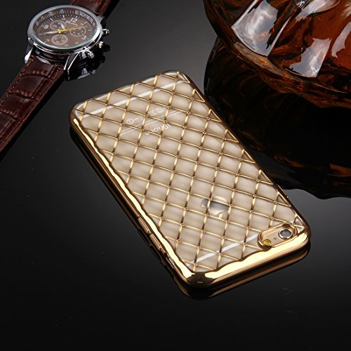 Phone case & Hülle Für iPhone 6 / 6s, Argyles Texture Galvanisieren Soft TPU Schutzhülle Fall ( Color : Rose Gold ) Gold