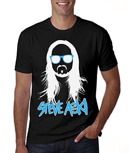 Steve Aoki Blue Sunglasses Logo Men's T-Shirt XX-Large