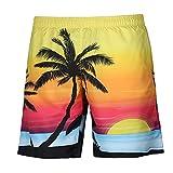 VRTUR Herren Männer Badehose in vielen Farben   Badeshort   Bermuda Shorts   Beachshort   Slim Fit   Schwimmhose   Badehosen   schnelltrocknend   Jungen (Large(Taille:74 cm),A-Mehrfarbig)