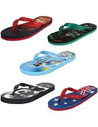 Earton Mens Stylish & Trendy Multicolor Combo Flip-Flop & House Slipper (COMBO-222+223+225+237+506-6_$p)