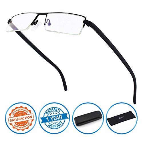 Cgid occhiali da lettura mezzo bordo anti luce blu. con montatura tr90 per uomo e donna,sbk001