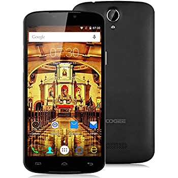 Doogee X6 Pro 5.5'' Android 6.0 64Bit Unlocked FDD-LTE 4G Smartphone - MT6735 Quad Core 2GB/16GB Dual SIM Mobile 3G OTG OTA GPRS Wireless Update SIM-Free Phablet (Black)