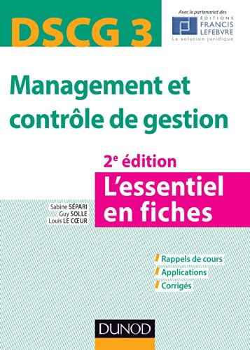 DSCG 3 Management et contrôle de gestion - 2e éd. - L'essentiel en fiches