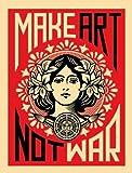 Shepard Fairey – Kunst machen nicht Krieg Kunstdruck (45,72 x 60,96 cm)