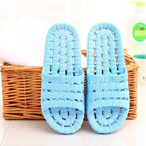DogHaccd pantofole,Il bagno pantofole donne indoor estate home soggiorno con una morbida antiscivolo bagno in plastica coppie maschio cartoon cool pantofole Blu cielo2