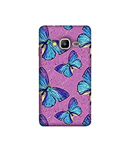 Kaira High Quality Printed Designer Soft Silicone Back Case Cover For Samsung Z2 (2016)(butterfly)