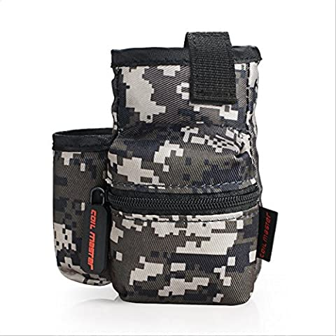 Coil Master Pbag 100% Authentique Universel Multifonctionnel Cigarette Electronique Vape Voyage Mallette Mini Vape Carry Bag pour Outils, Liquides, RDA RTA Atomizer Mods, Batteries, Coton / Wicking Supplies, Vape Kits, Vape Stylos, et plus encore! [SACS SEULEMENT] (Camouflage)