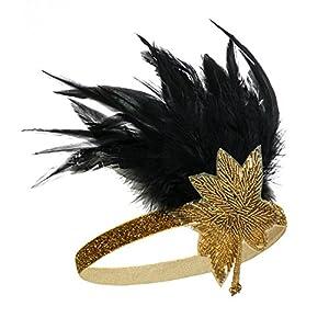 Metme Damen Satin Charleston Stirnband Haar Zubehör 20 s Flapper Stirnband Kopfschmuck