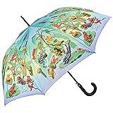 VON LILIENFELD® Regenschirm Automatik Damen Motiv Froschfamilie