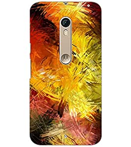 PrintDhaba PAINT ART D-6569 Back Case Cover for MOTOROLA MOTO X PURE EDITION (Multi-Coloured)