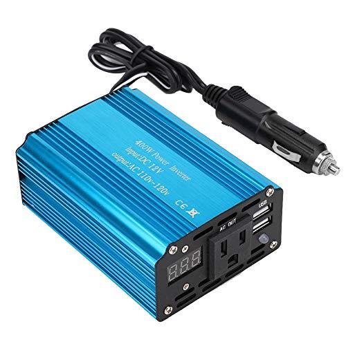 400W Auto Wechselrichter Sinus DC12V bis AC110V-120V mit USB Port Converter Charger Auto-120v Usb