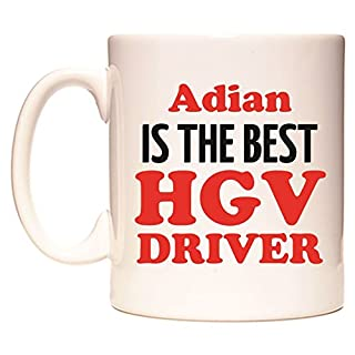 Adian IS THE BEST HGV DRIVER Becher von WeDoMugs