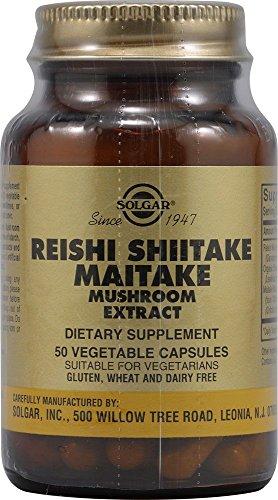Reishi Shiitake Maitake 50 cápsulas de Solgar