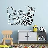 Adesivo murale orso decorazione creativa cameretta maiale personaggio dei cartoni animati adesivo murale vinile orso