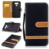 Nancen Wallet Case Hülle für LG G6 (5,7 Zoll),länglich-Taste Magnet,Muster Flip Funktion Kartenfächer Etui,Schütze Dein Telefon