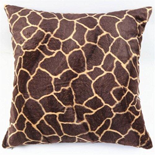45,7cm Kopfkissen, janly® Animal Zebra Leopard Tiger Print Kissen Bezüge Sofa Taille Werfen Kissenbezug, quadratisch Home Dekoration Warm Schöne, Polyester, a, 18
