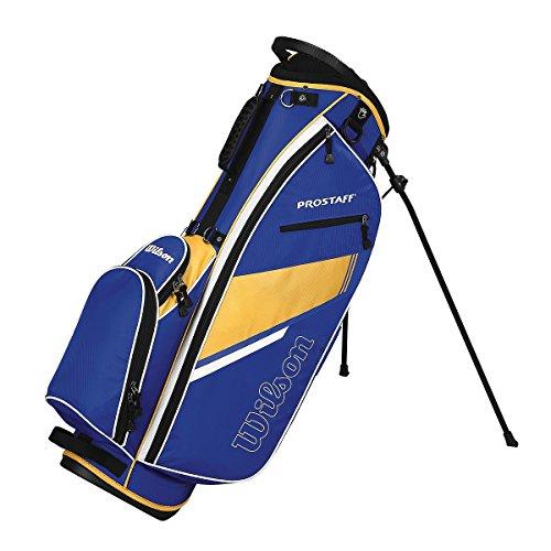 2015 Wilson Prostaff Lightweight Stand Bag Mens Golf Carry Bag 6-Way Divider Blue/Yellow -