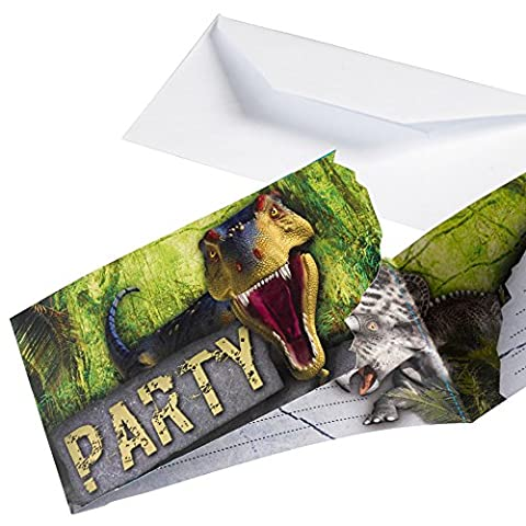 Carte D Invitation Anniversaire - Amscan - 9900360 - 8 Cartes d'Invitation