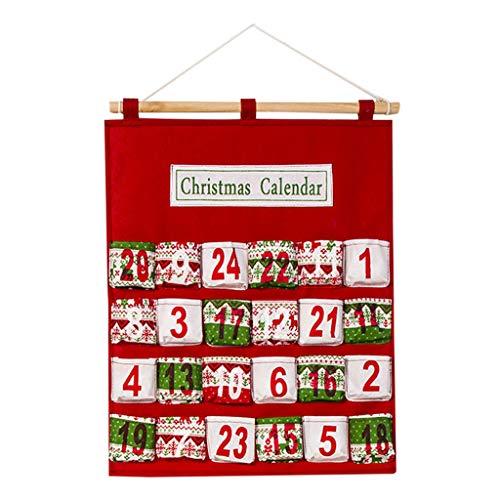 Myspace 2019 Dekoration für Christmas Frohe Weihnachten Adventskalender Traditionelle Wandbehang Dekoration Weihnachtsdekoration Countdown Kalender Aufbewahrungstasche hängen