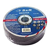 S&R Trennscheibe für Metall, Stahl, Edelstahl / INOX 125x1,0x22,23mm A60 S-BF.Set 25 Stück