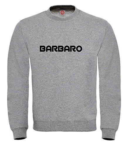 Felpa Barbaro - Print Your Name Gray