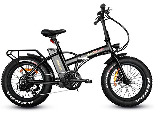 Addmotor MOTAN Folding Electric Bikes 500W Ebikes For Adults 20 Inch Fat Tyre Foldable Electric Bicycle With Throttle 48V 10.4Ah Lithium Battery Pedal Assist Fit For Mountain Beach Snow M-150 (Black)