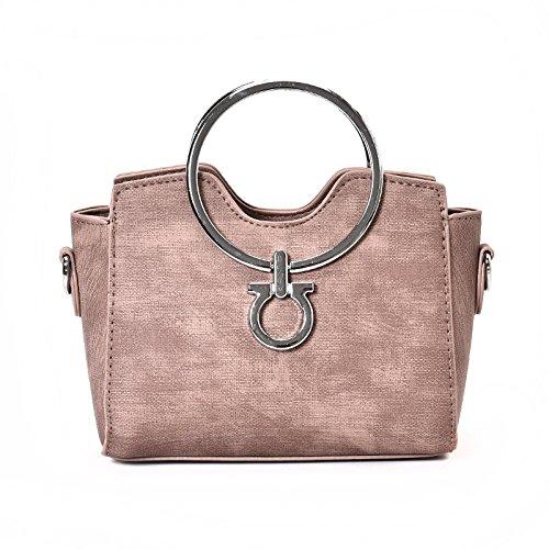 Meoaeo Il Nuovo All-Match Crossbody Bag Borsa A Tracolla Borsetta Catena Ad Anello Rosa Pink