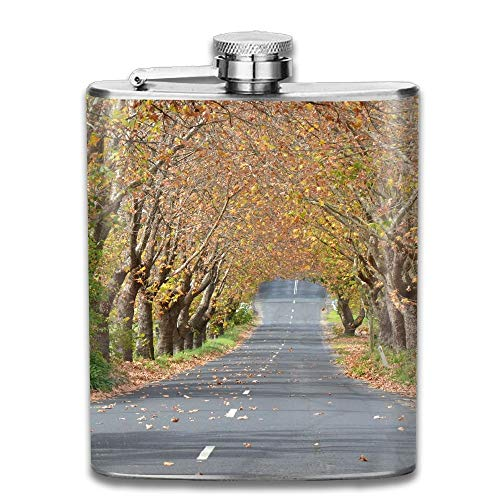 Autumn Landscape Leaves Nature Gifts Top Shelf Flasks Stainless Steel Flask