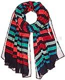 Kipling DE (Apparel) Damen VISCOSE SCARF Schal, Mehrfarbig (Spicy Stripes 21M), One Size (Herstellergröße: 1)
