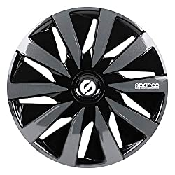 Sparco SPC1491BKGR wheel covers Lazio 14-inch black/grey