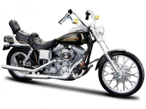 Harley Davidson Modell, 1997 FXDWG Dyna Wide Glide (32), Maisto Motorrad 1:18 Harley Davidson Motorrad
