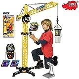 Dickie Spielzeug Riesen Kran mit Kabelsteuerung und offener Kabine, 100 cm: 100 cm Baukran Baustelle Kinderkran Lastenkran Turmkran