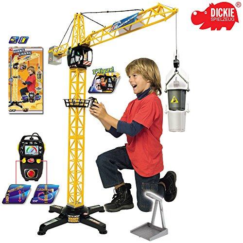 Dickie Spielzeug Riesen Kran mit Kabelsteuerung und offener Kabine, 100 cm: 100 cm Baukran Baustelle Kinderkran Lastenkran Turmkran Kran-spielzeug Für Kinder
