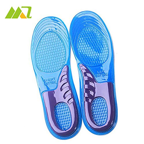 SHOM New 1Pair Shoe Insoles Gel Women Gel Orthotic Running Shoe Insoles Insert Pad Arch Support Cushion US6-9