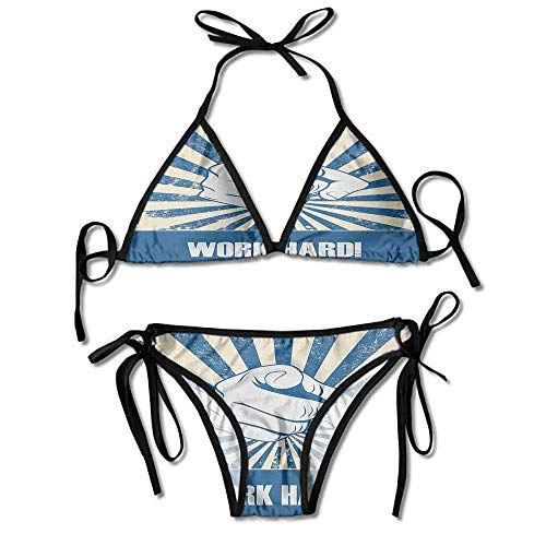 Bikini Women's 2 Pieces,Attitude Inspirational Vintage Sexy Bikini 2 Pieces