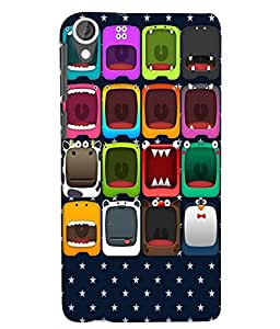 Citydreamz Multicolor Cartoon Shapes/Stars Hard Polycarbonate Designer Back Case Cover For HTC Desire 820/820S/820Q/820G Plus