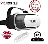 #10: Easypro™ VR BOX 2.0 Virtual Reality Glasses, 2017 3D VR Headsets Bluetooth Wireless Remote Controller for Lenovo K8 Note